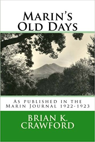 Cover for Marin's Old days - a black and white picture of Mount Tam