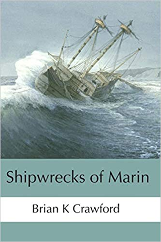 The cover of the book with a period painting of a ship in a storm.